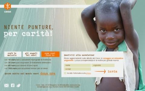 #Slash e la #campagna #online di #Cesvi: #awareness e #database building su #utenti #Internet #prospect