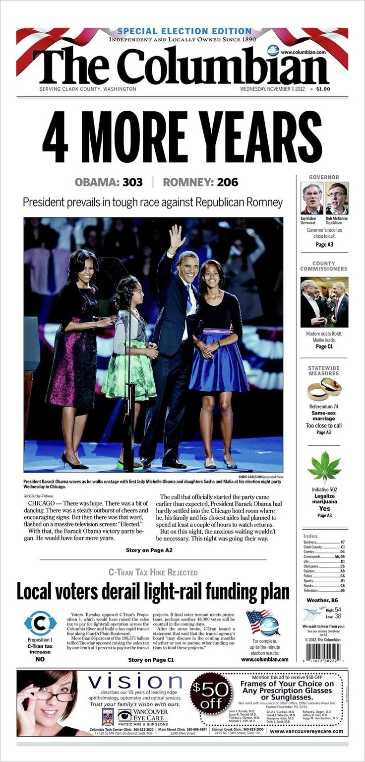 Today's Front Page   The Columbian