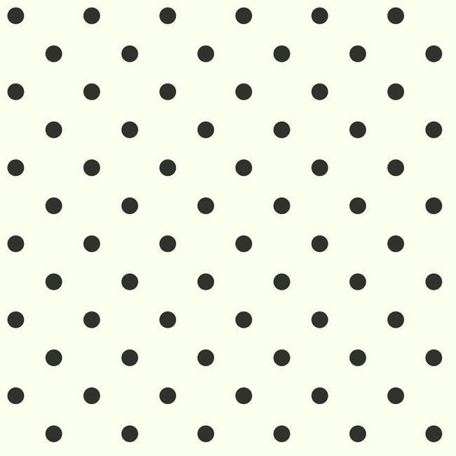 Sample Circle Sidewall Wallpaper in Black and White by York Wallcoverings