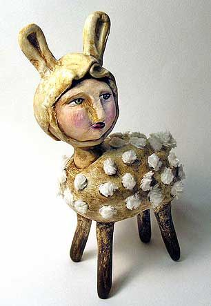 clay, Sculpey, polymer..by Judy Wise  Love this little creature!....