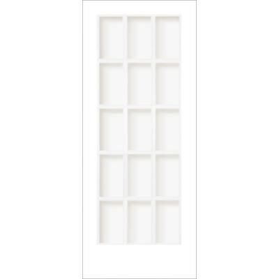 Milette Interior French Door Primed With 15 Lites Clear Glass 34 Inches X 80 Inches Home