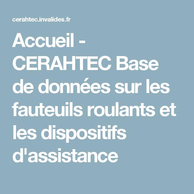 Accueil - CERAHTEC Base de données sur les fauteuils roulants et les dispositifs d'assistance