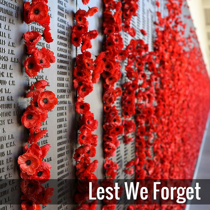 We will remember them. Lest we forget.