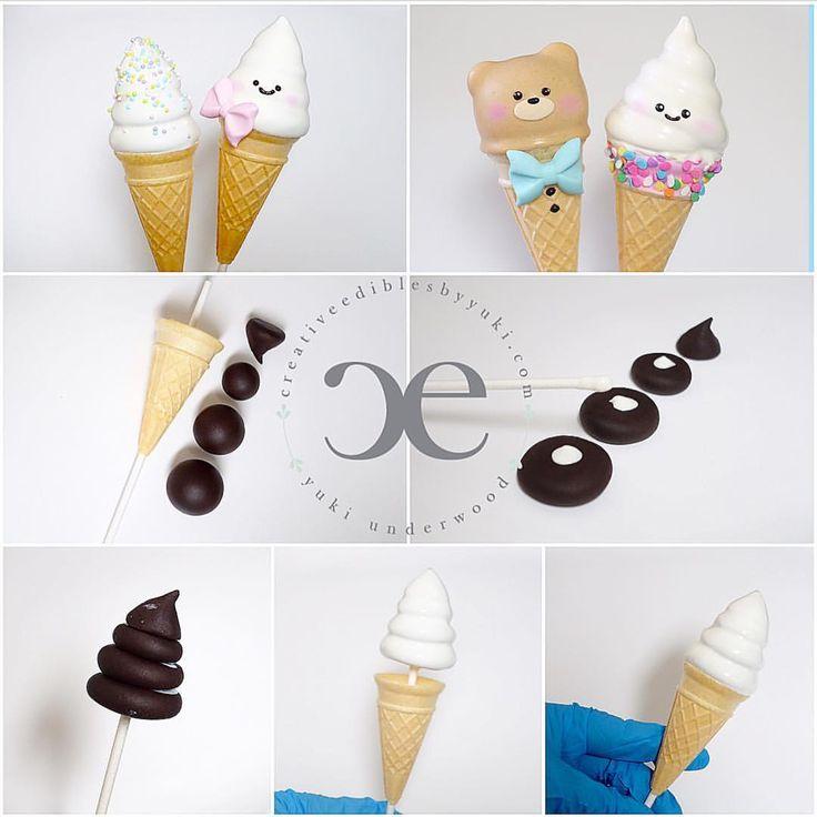 "68 Likes, 2 Comments - Yuki Underwood (@creativeediblesbyyuki) on Instagram: ""Happy National Ice Cream Day! #creativeediblesbyyuki #cakepops #icecream #icecreamcakepops…"""