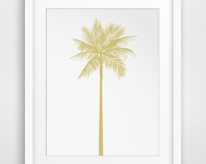 Gold Prints, Gold California Art, California Print, Gold Palm Art, Gold Palm Tree Print, California Decor, Gold Artwork, Palm Tree Decor