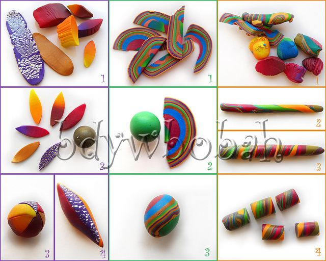 picture tutorial on how to make swirl beads...#Polymer #Clay #Tutorials