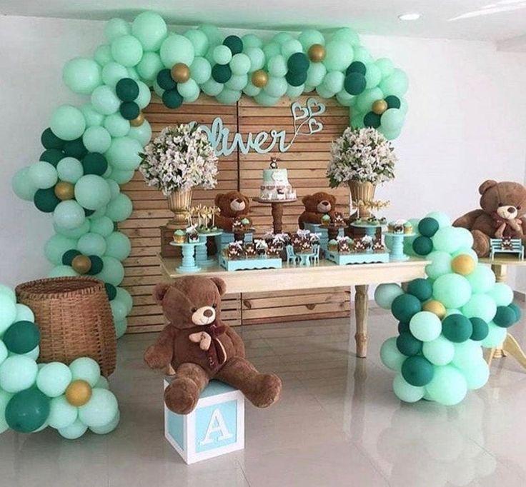 Mint Balloon Garland Kit Greenery Theme in 2020 Boy baby