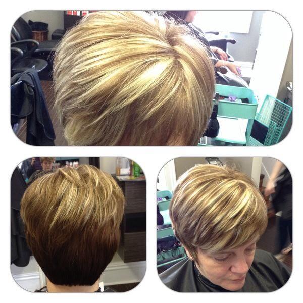 Short Hair with highlights #hair Studio, Oshawa, Ontario