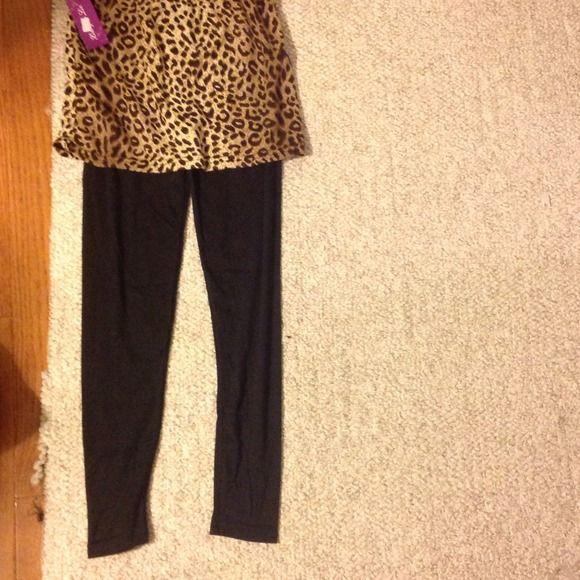 Lepord cheetah skirt leggings tights Very nice !! Skirts