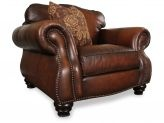 THis leather chair is so rich-looking