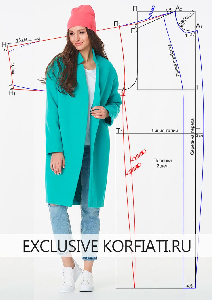 Сшейте объемное пальто-кокон самостоятельно! Несмотря на кажущуюся объемность, оно весьма изящно. Выкройка пальто-кокон и инструкции по раскрою бесплатно!