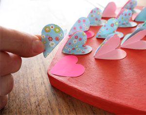 Groot hart versieren voor Valentijnsdag!   #knutselen #DIY #moederdag
