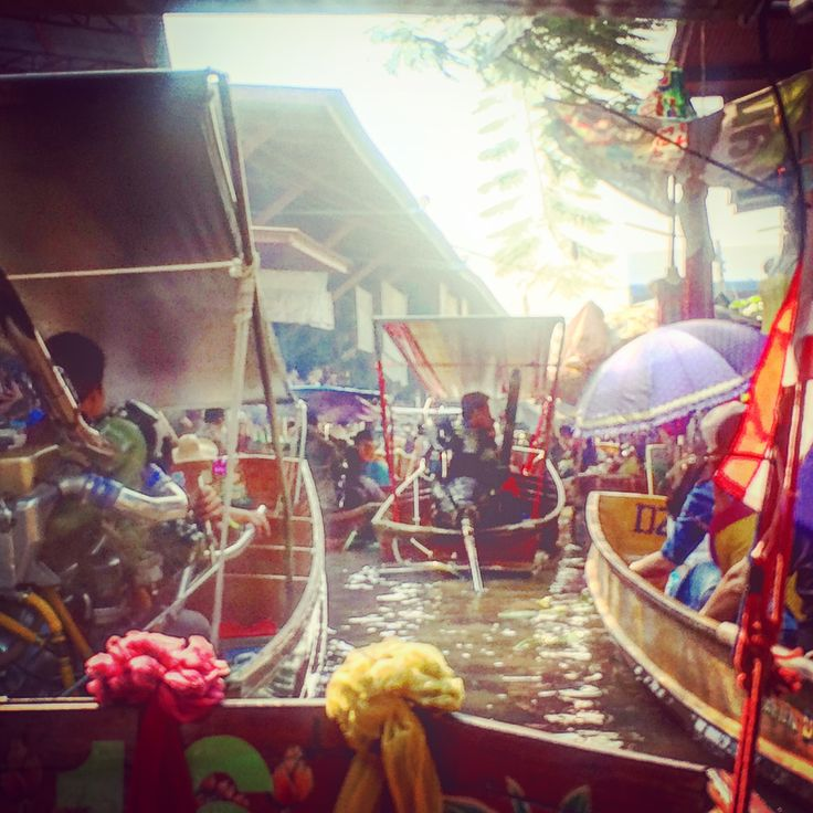 Marché flottant de Damnoen Saduak #Thailande #Bangkok