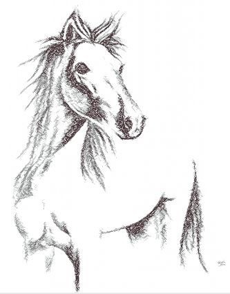 Drawing horse free embroidery design - Photo stitch embroidery - Machine embroidery forum