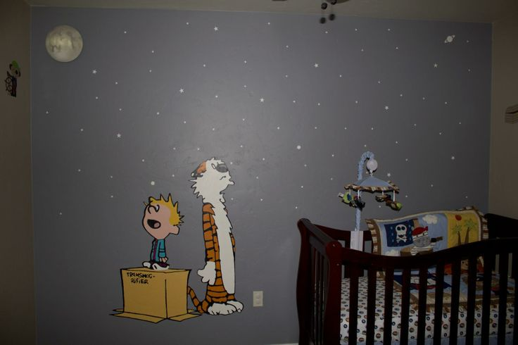 15 best calvin hobbes nursery images on pinterest for Calvin and hobbes kids room