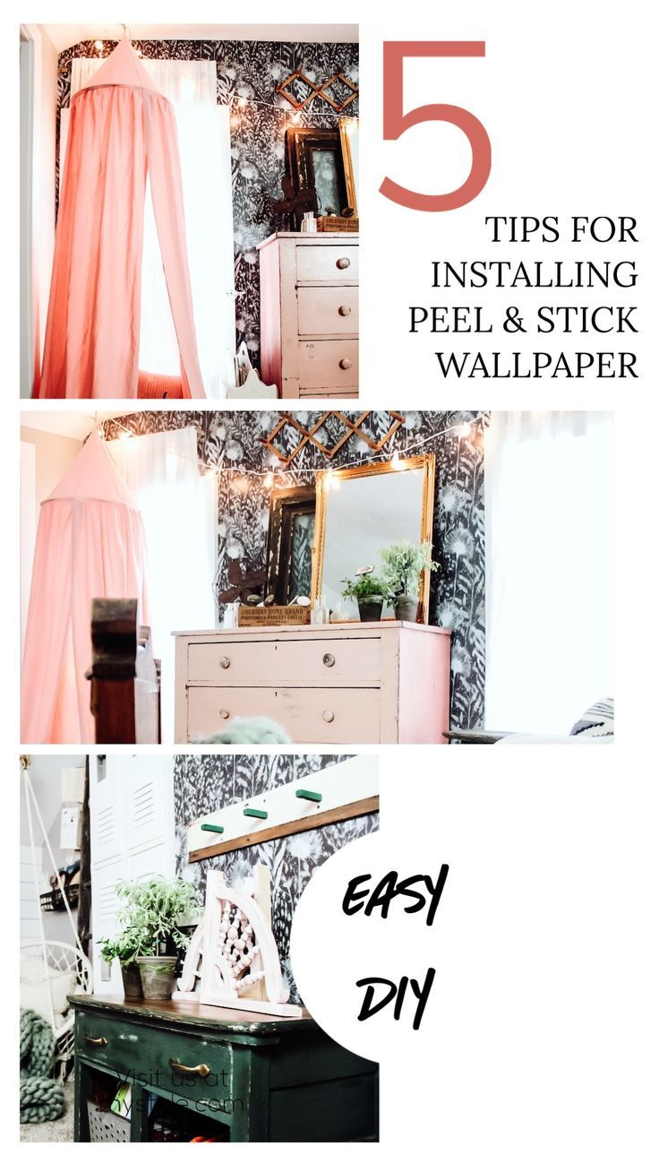 5 Tips For Installing Peel Stick Wallpaper Two Paws Farmhouse Peel And Stick Wallpaper Easy Diy Projects Decor