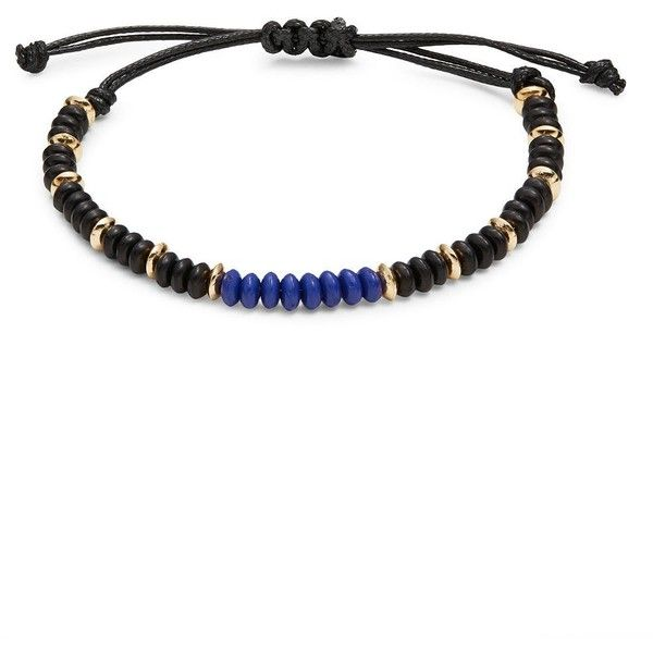 Variations Men's Colorblocked Beaded Cord Bracelet ($16) ❤ liked on Polyvore featuring men's fashion, men's jewelry, men's bracelets, black, mens cord bracelet, mens bead bracelets, mens bracelets, mens watches jewelry and mens rope bracelet