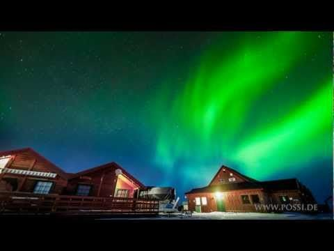 Aurora borealis in Norway - timelapse film