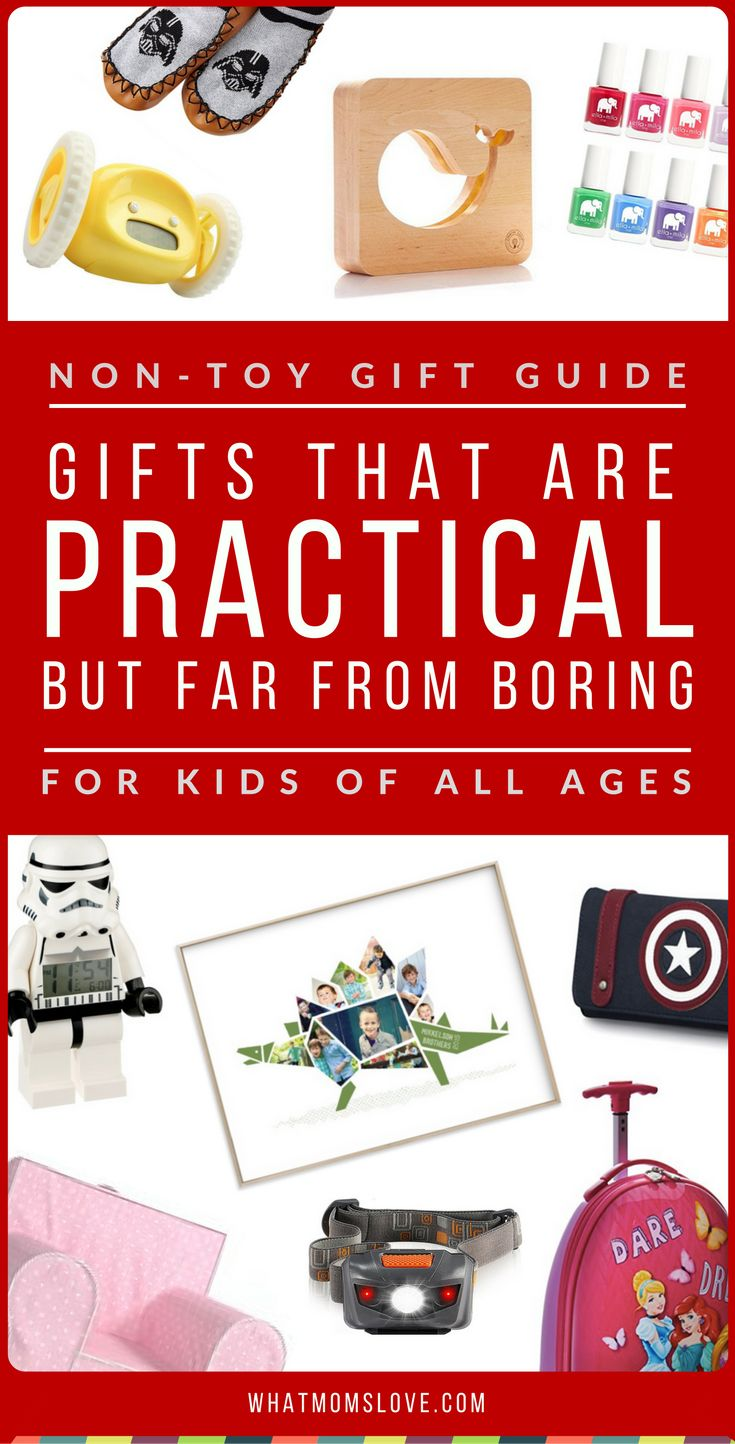 Best Non-Toy Gift Guide for Kids | Are toys taking over your home? Learn over 200 incredible gifts ideas for kids that AREN'T toys in this awesome Non-Toy Gift Guide. Perfect for toddlers to tweens and teens, girls or boys, for Holidays, birthdays and special occasions. Click for fun present ideas PLUS product recommendations, or pin for later | from What Moms Love
