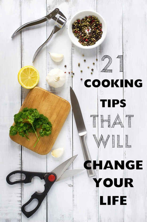 21 Cooking Tips That Will Change Your Life - BuzzFeed - I like the boiling whole russet potatoes and the hole skin just peels right off!