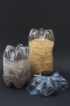 Ideas para reciclar botellas de plastico como botes para alimentos