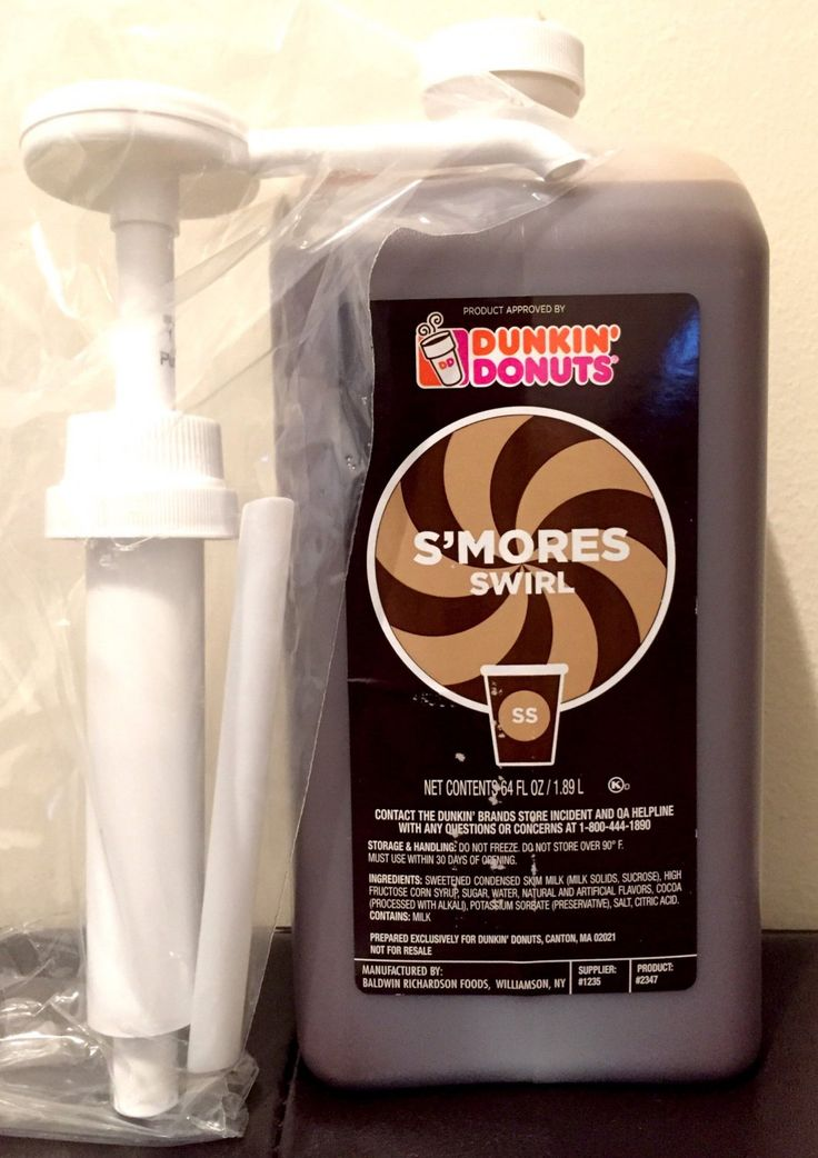 Exclusive limited collection dunkin donuts smores swirl