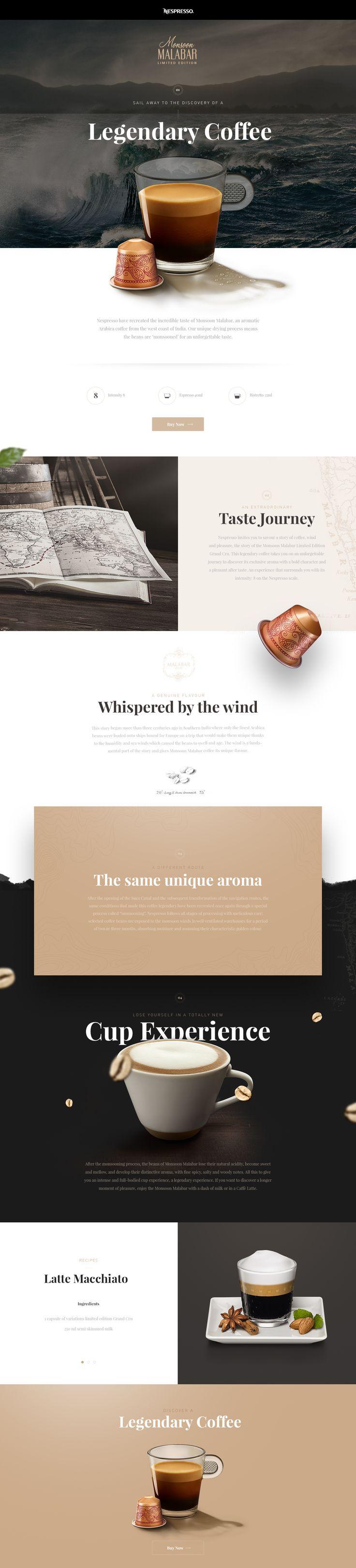 """다음 @Behance 프로젝트 확인: """"Nespresso Monsoon Malabar"""" https://www.behance.net/gallery/42748243/Nespresso-Monsoon-Malabar"""