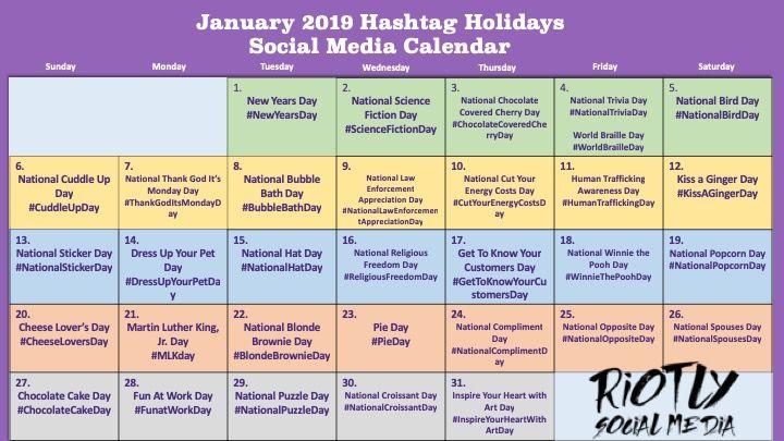 Riotly Social Trial V With Images Social Media Calendar