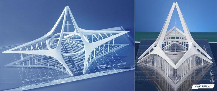 Katedrála Gabon   HELIKA   2008   V0422  modely   koncepční modely, hmotové modely