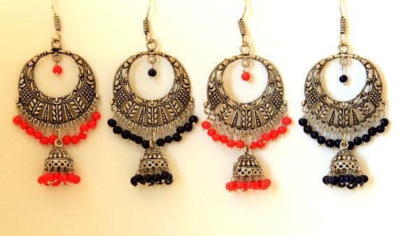 Chandelier Earrings Indian Jewelry Jhumka Earrings by ShopJuelerie