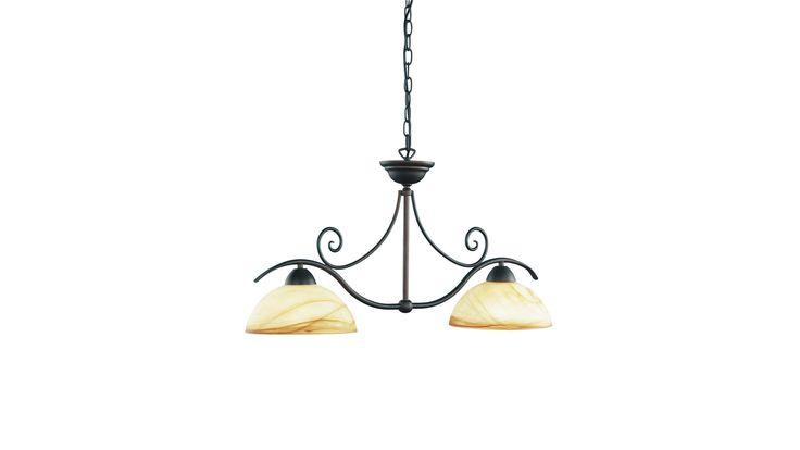 Das Lampengestell der modischen Leuchte besteht aus einem dunkelbraunen Metall, und ist äußerst robust und pflegeleicht. Die aus Glas gefertigten Lampenschirme haben einen terracotta-cremefarbigen Verlauf und sorgen so für ein ansprechendes Licht. Die Tischleuchte kann mit zwei, nicht im Lieferumfang enthaltenden E27-Leuchtmitteln, die jeweils maximal 60 Watt Leistung besitzen, betrieben werden. Produktnummer: 577809-824-00-114 mehr unter: https://shop.webermoebel.de