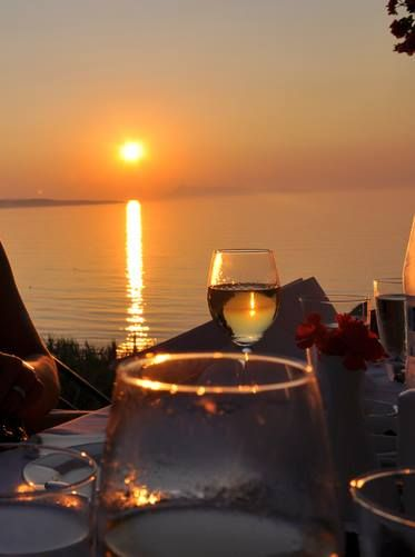 Dinner by the sunset ...