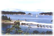 Nanaimo, view of Newcastle Island and Protection Island.