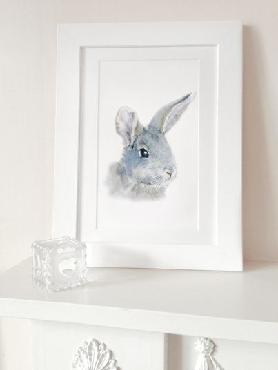 Naklejka tkanina na ścianę 'Bunny Print A3'