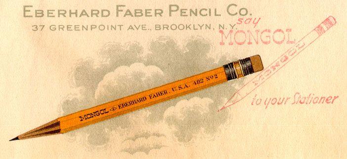 brandnamepencils.com // Eberhard Faber Pencil Co. nice ads & photos of vintage pencils