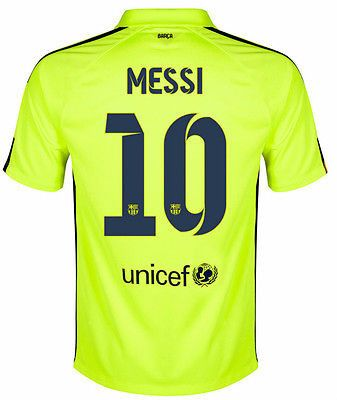 NIKE LIONEL MESSI FC BARCELONA THIRD 3RD JERSEY 2014/15 Volt/Loyal Blue