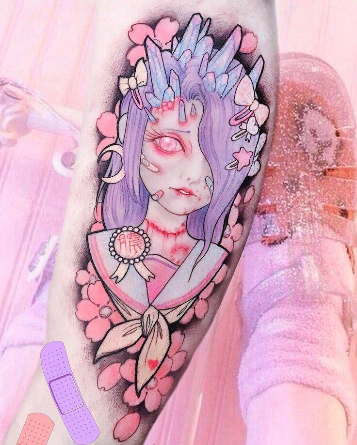 Best 20 kawaii tattoo ideas on pinterest for Pastel goth tattoos