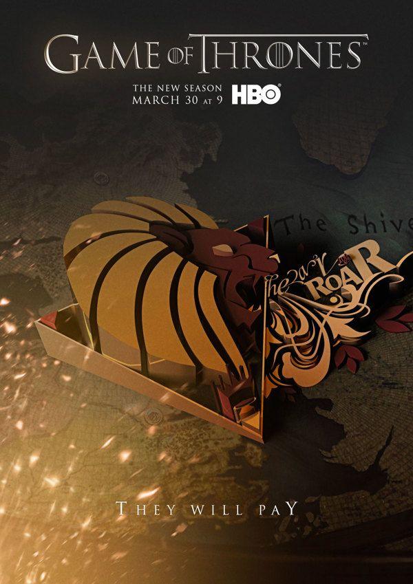 Concept Poster Ads For The Next Season Of 'Game Of Thrones' - DesignTAXI.com