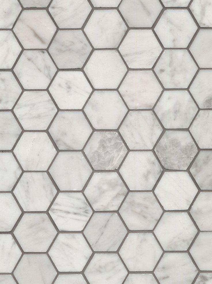Carrara marble hexagonals