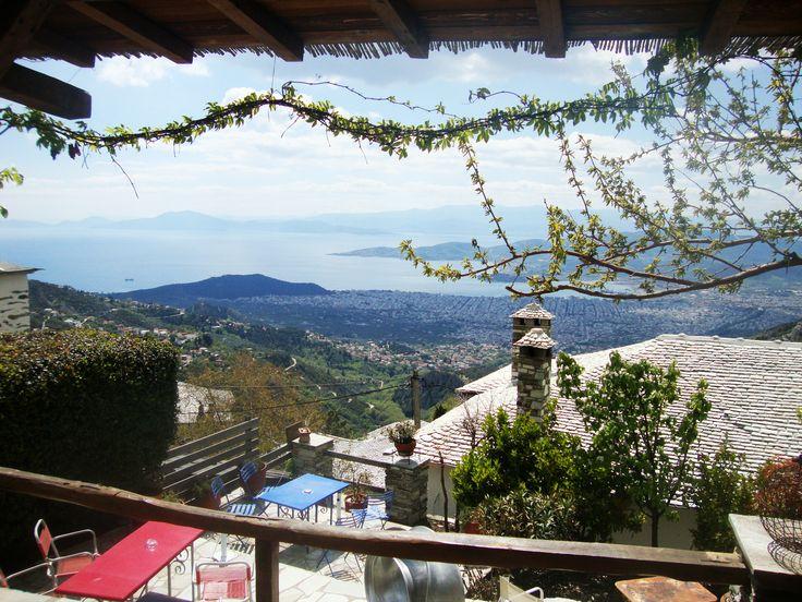 Airbnb Entire Villa - Panoramic view from Makrinitsa , Pelion