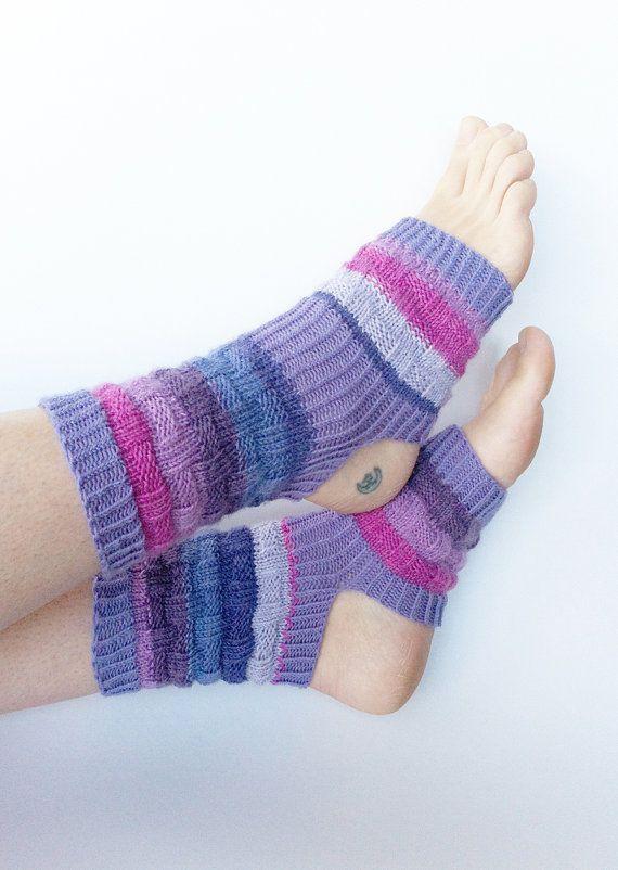 Hand Knit Yoga Socks  Pilates Sox  PiYo Sox  Dance Socks by LizSox, $33.00