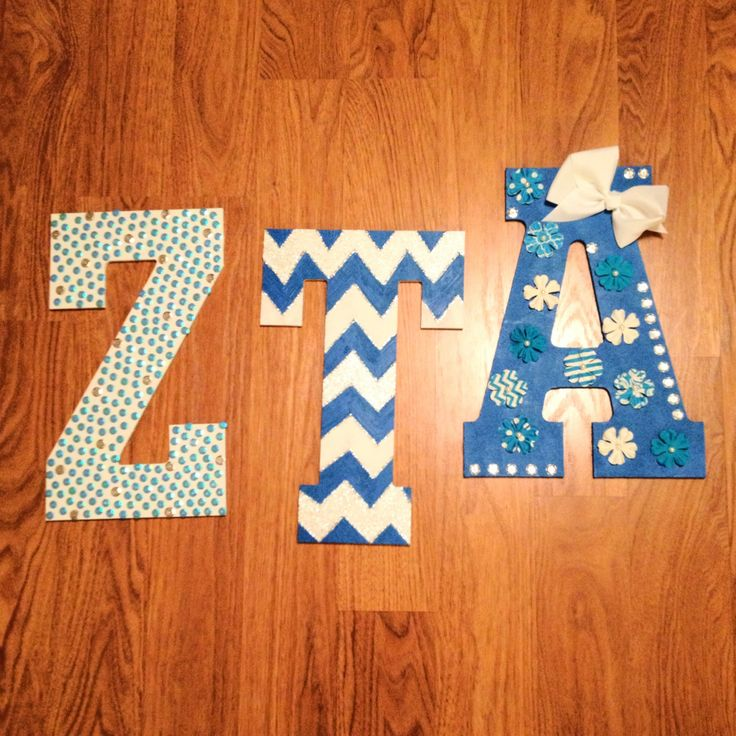 161 best sorority decorated letters images on pinterest for Small wooden numbers craft
