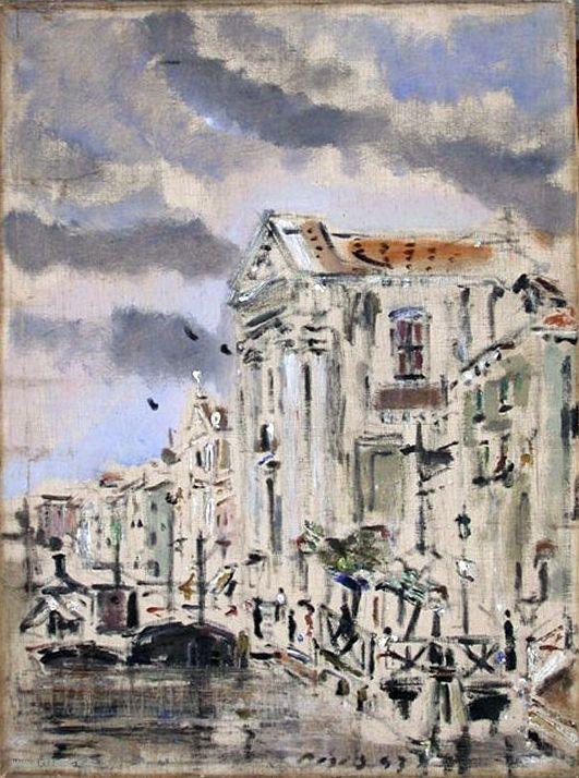 De Pisis  Canale della Giudecca ai Gesuiti   1943