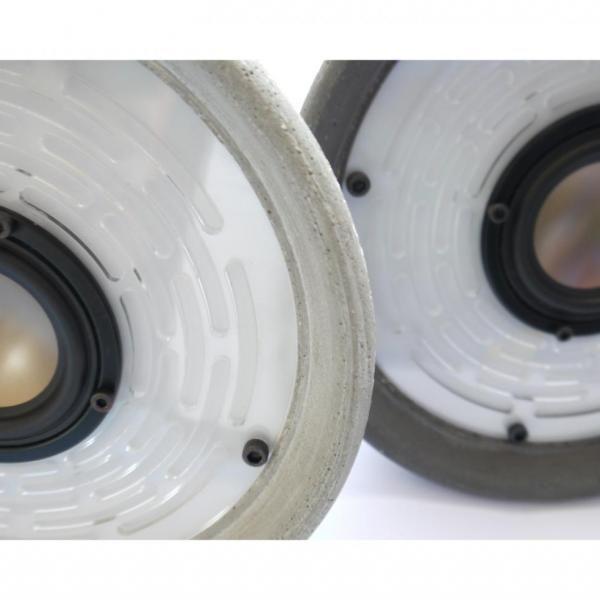 FILIPPO SISTEMA INTEGRATO DI ILLUMINAZIONE E DI ASCOLTO concrete speaker lamp