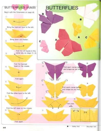 Origami farfalla .. Commenti: LiveInternet - Russo di servizi online Diaries