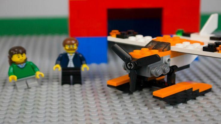 Развивающие видео игры для детей: Конструктор LEGO. Строим Самолет ЛЕГО