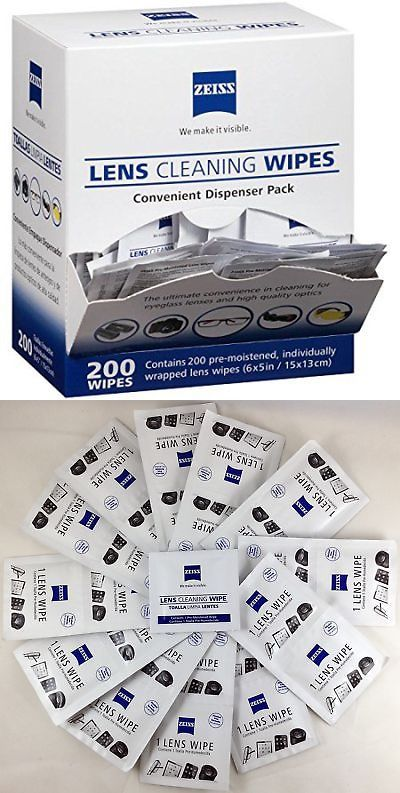 2e91cc5440 Zeiss Pre-Moistened Lens Cleaning Wipes - 200 Count with Dispenser Box