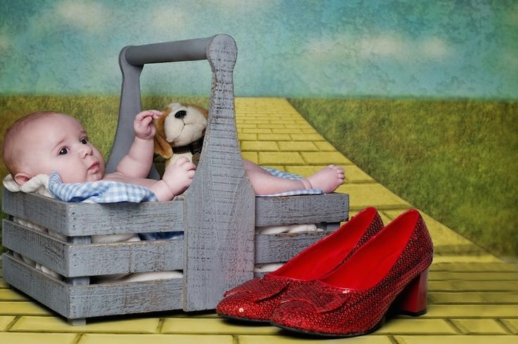 Sweet babies in scenes from famous books: The Wizard of Oz