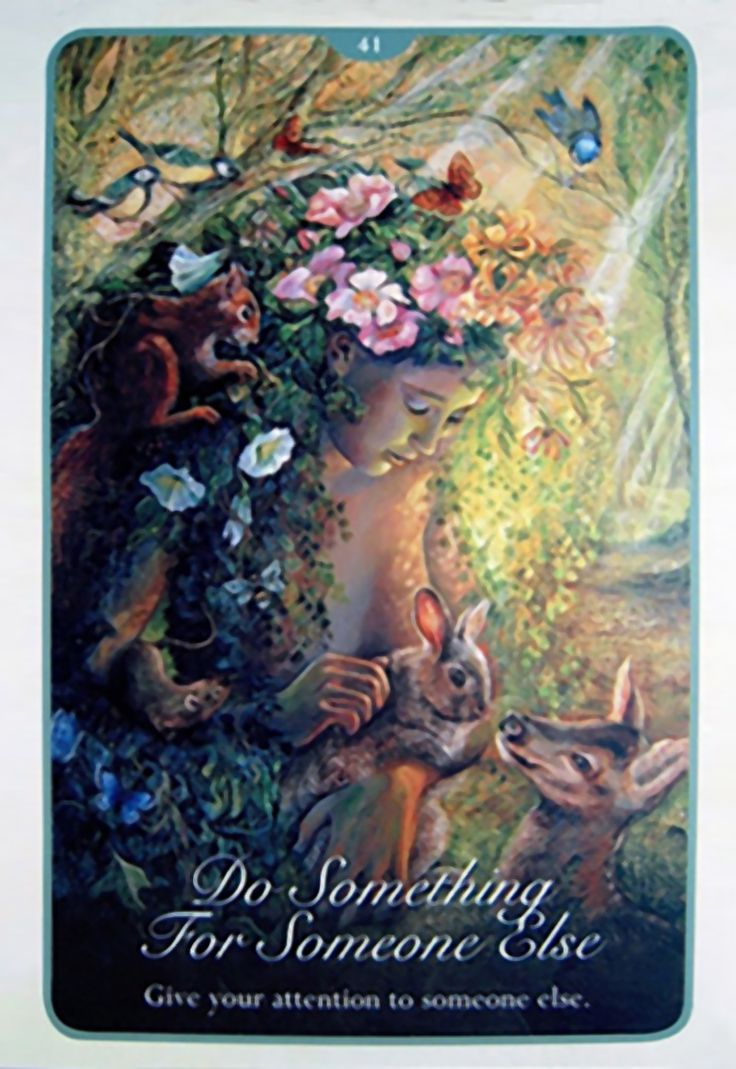 """41 Do Something for Someone Else 2"" Oracle Cards Whispers of Love par Josephine Wall and Angela Hartfield"