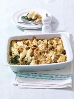 Swiss Chicken, Spinach & Mushroom Bake